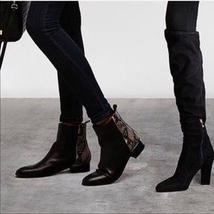 Ivanka trump python color block Chelsea boots